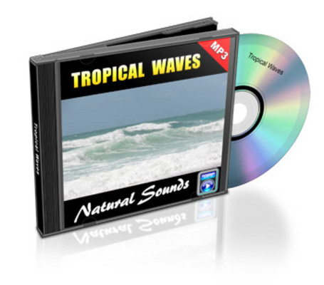 Product picture One Hour Tropical Waves Nature Sounds Audio MP3 with Rights